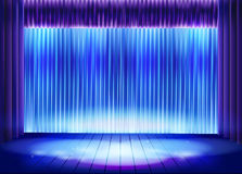 Curtain before the performance. Vector illustration. Royalty Free Stock Image