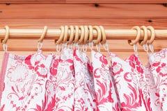 Curtain plastic rings Stock Photo