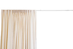 Curtain with rail on white background Royalty Free Stock Image