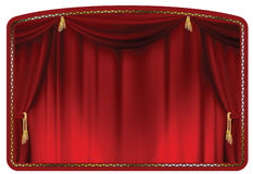 Curtain red Stock Photos