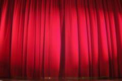 curtain red stage Στοκ φωτογραφίες με δικαίωμα ελεύθερης χρήσης