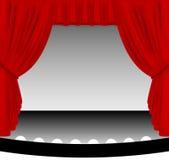 curtain red stage Στοκ Εικόνες