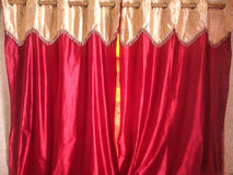 Curtain red Royalty Free Stock Photography