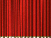 Curtain of red velvet Stock Photography