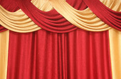 Curtain of red and yellow colour Royalty Free Stock Image