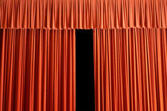 The curtain rises Stock Images