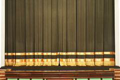 The curtain on the scene in the theater Stock Images