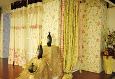 Curtain shop Stock Image