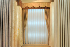 Curtain in simple style Royalty Free Stock Photography