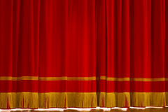 Curtain - Sipario. A red and gold curtain Royalty Free Stock Image