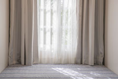 Curtain and sofa bed Royalty Free Stock Photography
