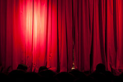A curtain with spotlights Stock Photo
