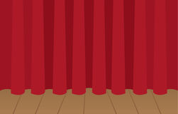 Curtain Stage Closed Stock Photography