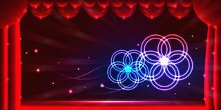 Curtain stage effect banner. Illustration abstract curtain stage effect banner graphic element background. RGB stock illustration