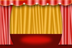 Curtain stage Stock Photo