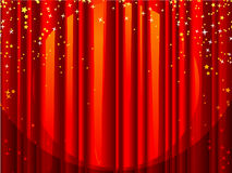 Curtain and Stars Stock Photo