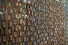 Curtain steel chain Royalty Free Stock Photo