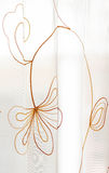 Curtain. Stitching with delicate floral beauty Royalty Free Stock Images