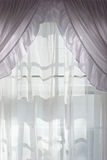 Curtain with Sunlight Royalty Free Stock Photo