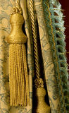 Curtain with a tassel. Classical curtain with a tassel royalty free stock photography