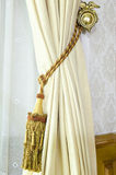Curtain tassel for interior decoration Stock Photo