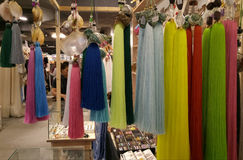 Curtain Tassle Tieback. Different color curtain tassle tiebacks Royalty Free Stock Image