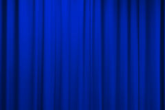 Curtain texture blue Royalty Free Stock Photography