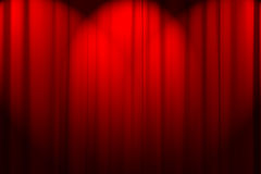Curtain texture. Red curtain texture with spot lights Stock Photos