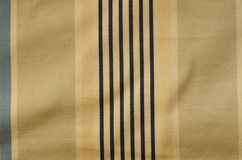 Curtain texture. Sunblind cloth with old navy stripes Royalty Free Stock Photography