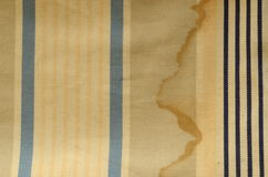 Curtain texture. Sunblind cloth with old navy stripes and shabby effect Stock Images