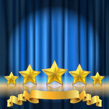 Curtain theater background Royalty Free Stock Photography