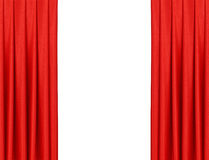 Curtain on theater or cinema stage slightly open Royalty Free Stock Photo