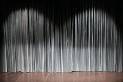 Curtain in a theatre Stock Photography