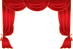 Curtain theatre Royalty Free Stock Image