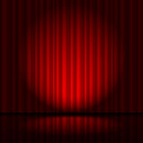 Curtain from the theatre Stock Images