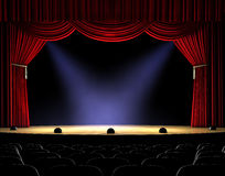 Curtain Up Royalty Free Stock Images