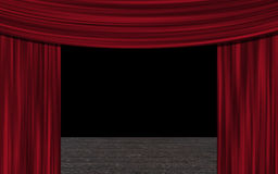 Curtain up Royalty Free Stock Photo