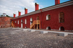 Curtain wall. The curtain wall of Peter and Paul Fortress Royalty Free Stock Photos