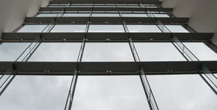 Curtain wall. Low angle shot of a curtain walls Stock Photo