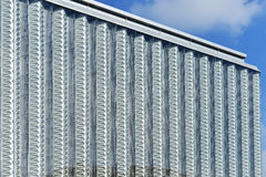 Curtain wall of modern commercial building Stock Photos