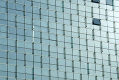 Curtain Wall of mordern building. Reflective mordern building curtain wall Royalty Free Stock Photos