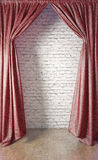 Curtain and  wall Royalty Free Stock Photos