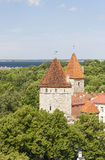 Curtain wall towers in Tallinn, Estonia royalty free stock photography