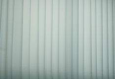 Curtain with warm sunlight Stock Image