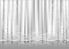 Curtain white Royalty Free Stock Image
