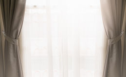 Curtain on window Stock Photography