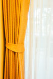 Curtain windows Stock Photography