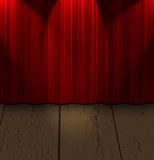 Curtain and wood Royalty Free Stock Photography