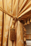 Curtain of yellow color Stock Photo