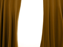 Curtain yellow Royalty Free Stock Images